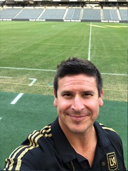 Dr. Gerhardt at LAFC vs Vancouver game at Bank of California Stadium!  Tough game 2-2 draw